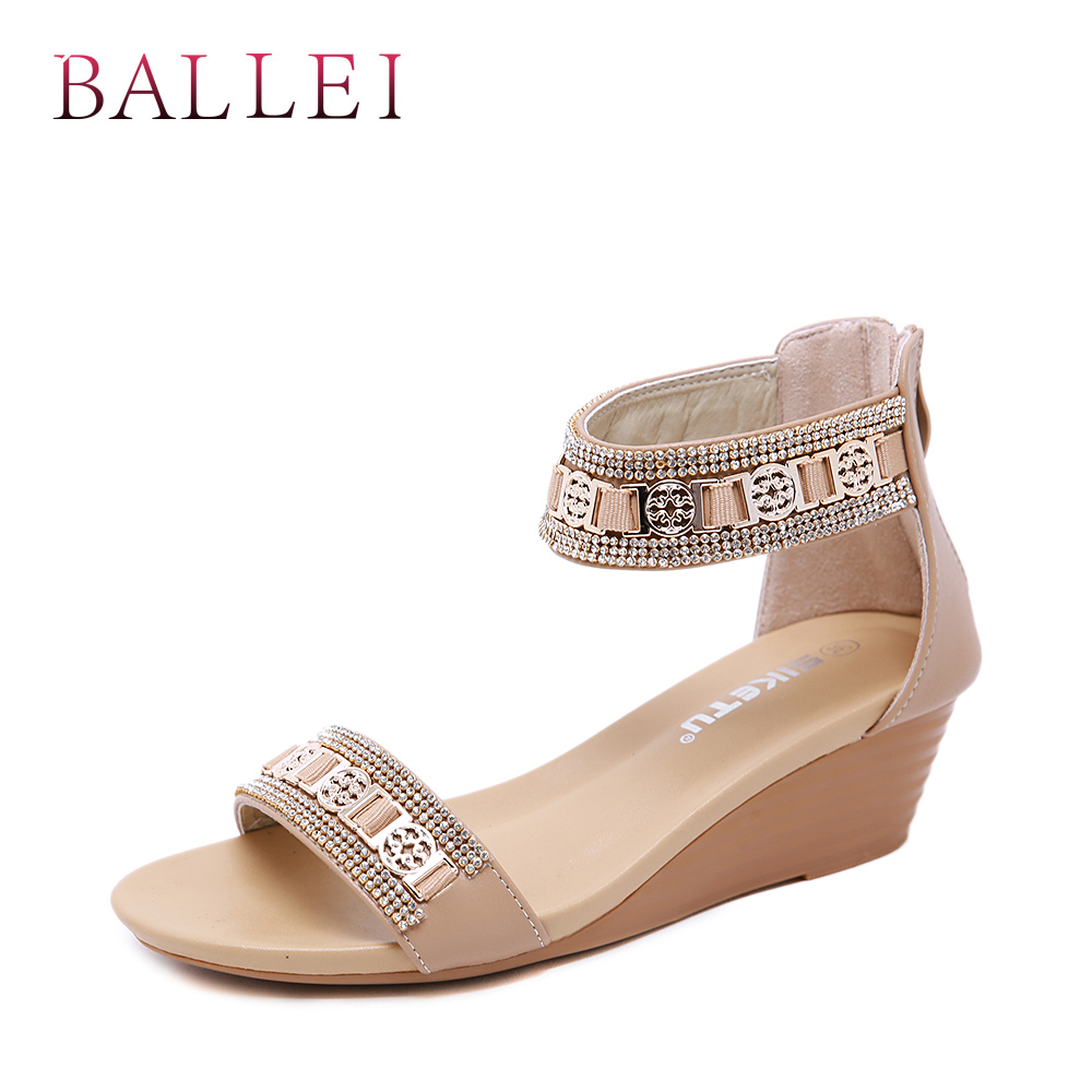 Women's Shoes Low Heels Balle High Quality Woman Sandals Vintage Genuine Leather Comfortable Low Heel Shoes Elegant Lady Ethnic Retro Casual Sandals S71