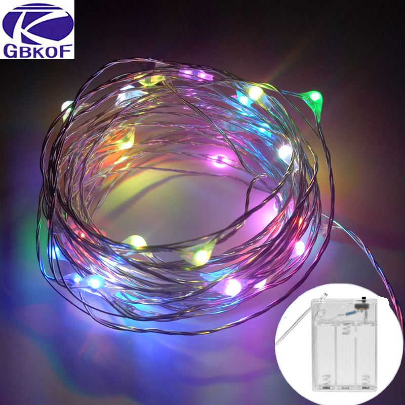 10M 5M 100 50 LED 3XAA Battery LED String Lights For Xmas Garland Party Wedding Decoration Christmas Tree Flasher Fairy Lights