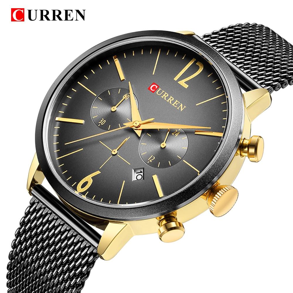 CURREN Luxury Brand Men Sport Watches Men's Digital Quartz Clock Stainless Steel Waterproof Wrist Watch relogio masculino 8313 men original current brand waterproof calendar display luxury clock curren 8045 wrist quartz watch