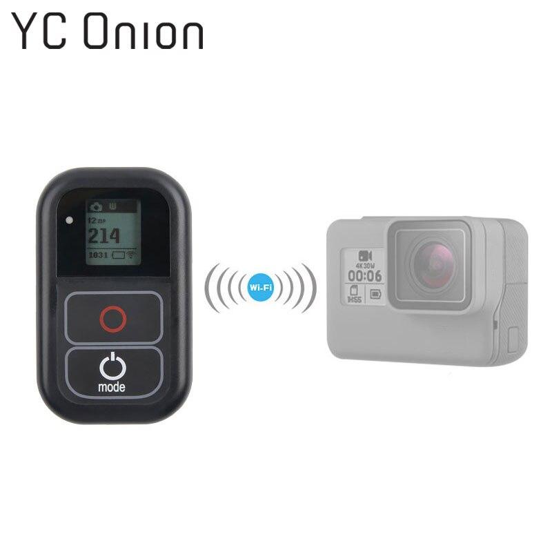 Pour GoPro WiFi télécommande avec câble de Charge dragonne étanche à distance pour Go Pro Hero 6 5 4 accessoire de Session-in Accessoires pour caméscope from Electronique    1