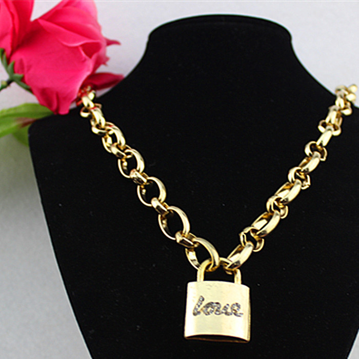Qingdao products popular romantic girl gifts wholesale gold-plated pendant necklace! Free shipping!