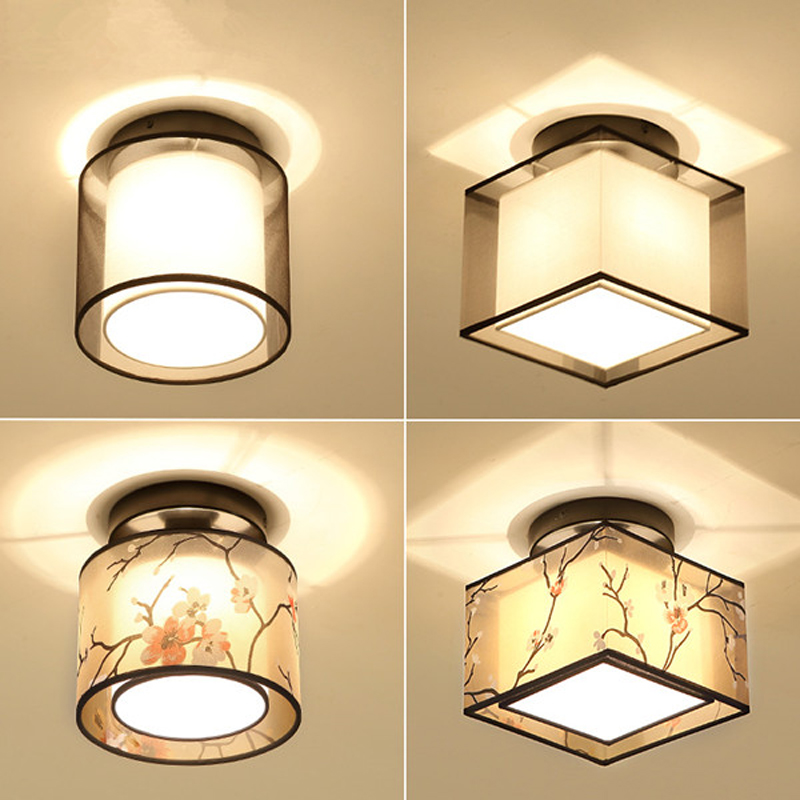 2017 Rushed Lustres De Sala New Chinese Ceiling Light Led Aisle Round Corridor Xuan Guan Deng Terrace Lamp Hall Small Lamps zinc oxide and manganese doped zinc oxide nanoparticles