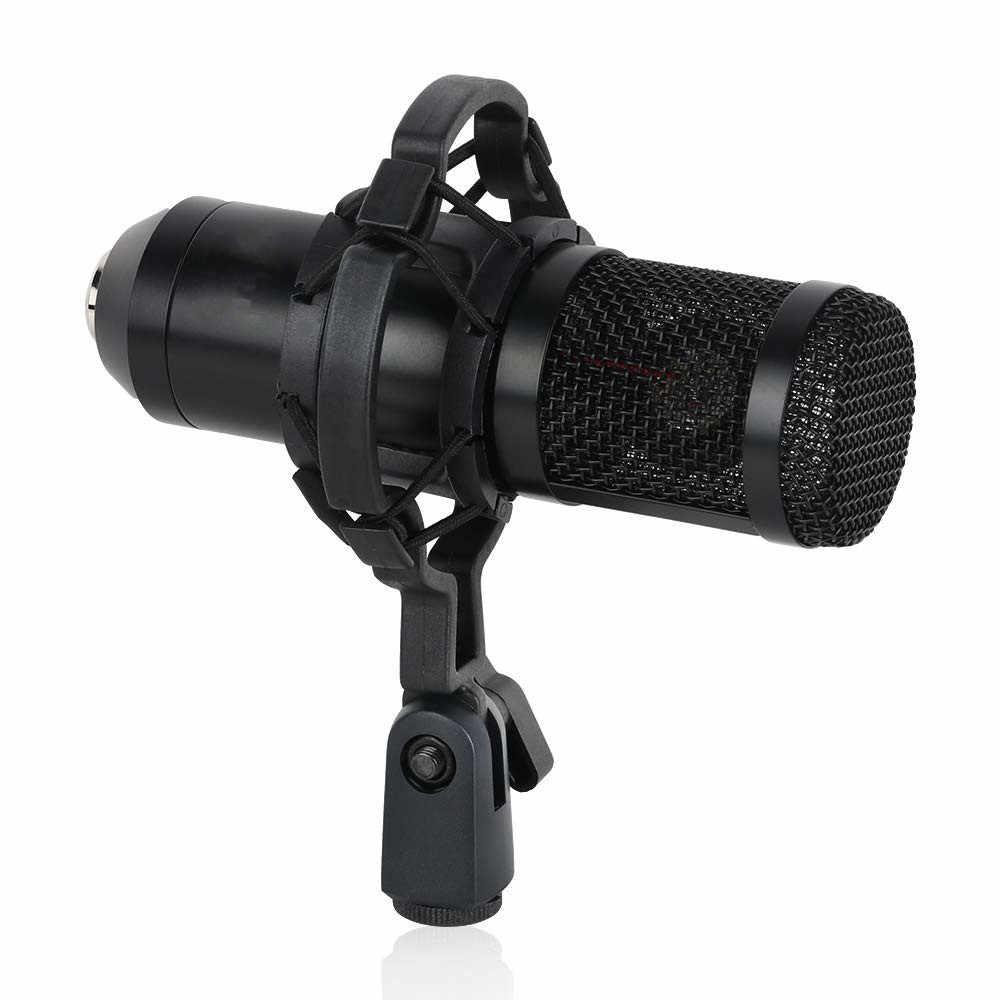 Micrófono bm 800 para ordenador profesional 3,5mm micrófono condensador de estudio con cable con soporte de trípode para grabación pc laptop bm800