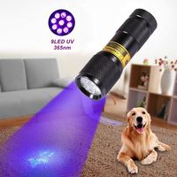 20pcs High Quality 9LED UV Light 365 370nm LED Flashlight Best Inthe World UV Light