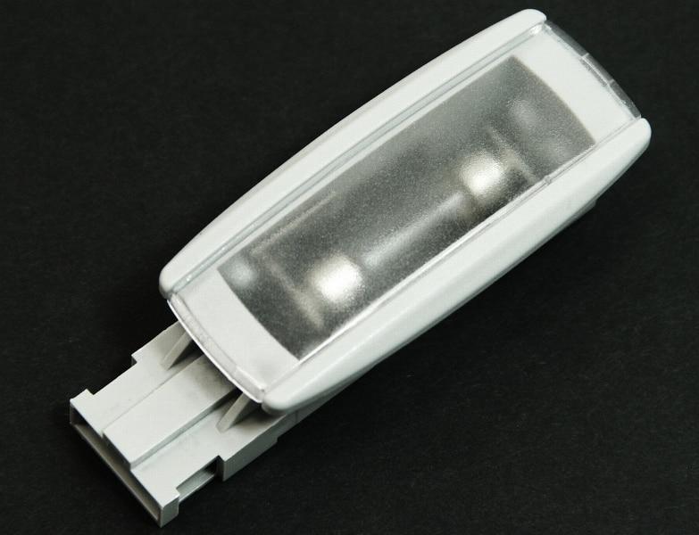 Gray & Black Passat B6 B7 Golf MK6 MK7 Tiguan Sun Visor Light Sunshade Makeup Lamp Interior Map Light 1KD 947 109 A 1KD949109A