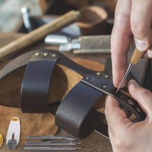Image 5 - 59 Pcs/Set Leather Craft Hand Tools Kit for Hand Sewing Stitching Stamping Saddle Making JDH99