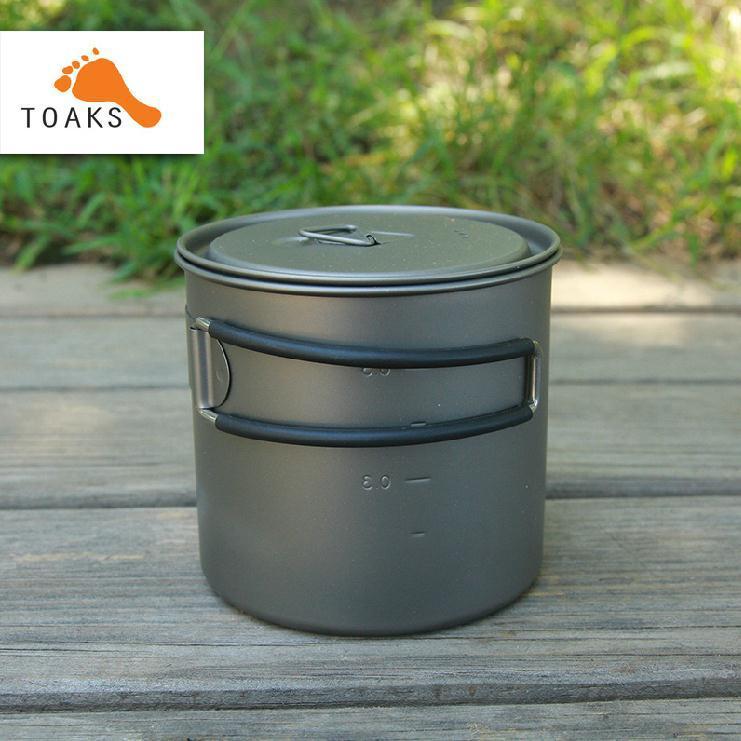 TOAKS portable Titanium 2in1 ultralight Titanium cookware folding pot Titanium cup folding 600ml109g nz titanium cookware 1200 ml