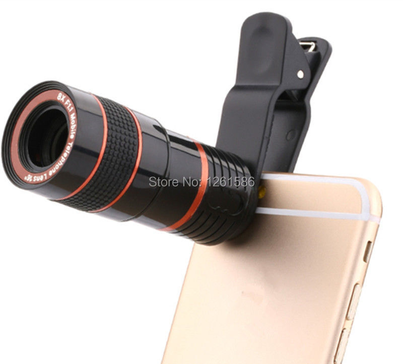 8X Zoom Mobile Phone Telescope Lens with Clip for smart phone  1