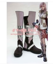 Final Fantasy XIII FF 13 Lightning Cosplay Shoes Boots For Costume Custom Made