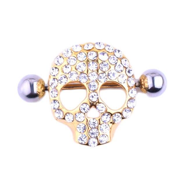 Nipple Piercing Skull...