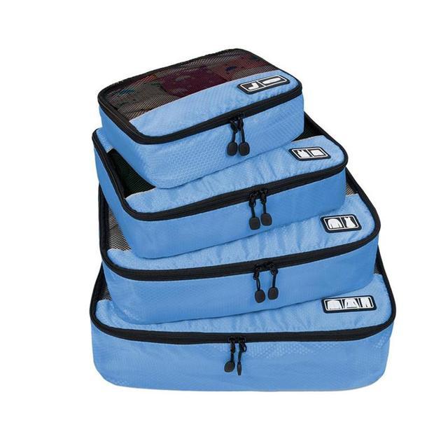 """2016 Nuevo Transpirable Bolsa de Viaje 4 Unidades Cubos de Embalaje de Equipaje Organizadores de Embalaje con el Bolso Del Zapato Encaja 23 """"llevar en la Maleta"""