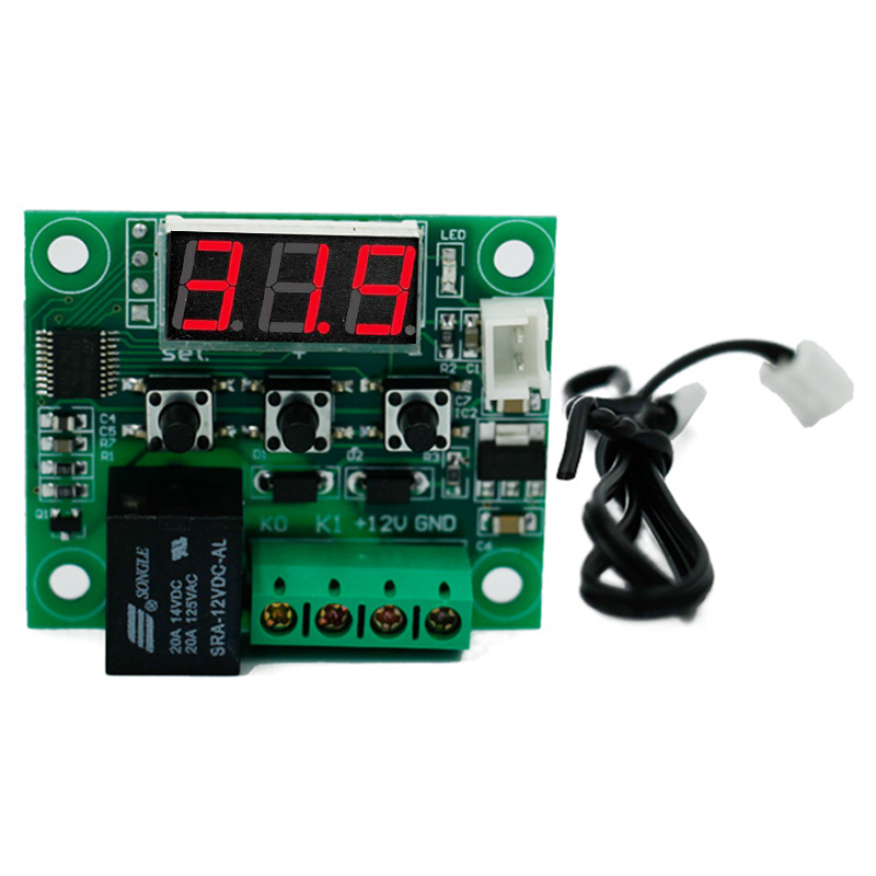 W1209 DC 12V Heat Cool Temp Thermostat Temperature Control On/Off Switch Thermo Controller Thermometer -50-110C  40%off