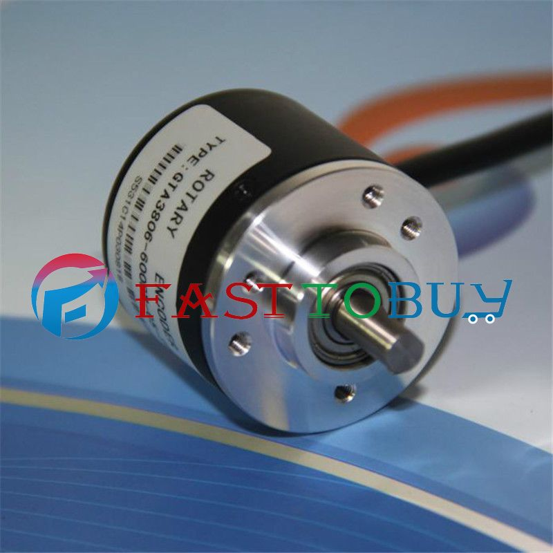 цена на NEW 400P/R NPN DC5~24V AB 2ph Shaft 6mm 5000rpm Incremental Photoelectric Rotary Encoder+1.5M Cable