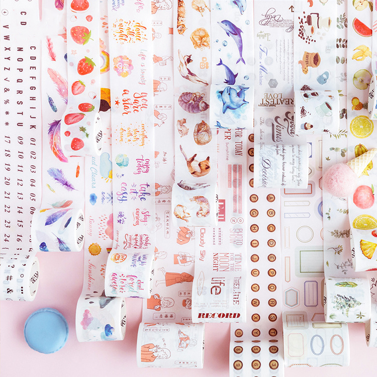 30-60mm*3m Kawaii Weather Strawberry Cat Washi Tape Stickers Scrapbooking DIY Masking Tape Bullet Journal School Supplies Sl2019