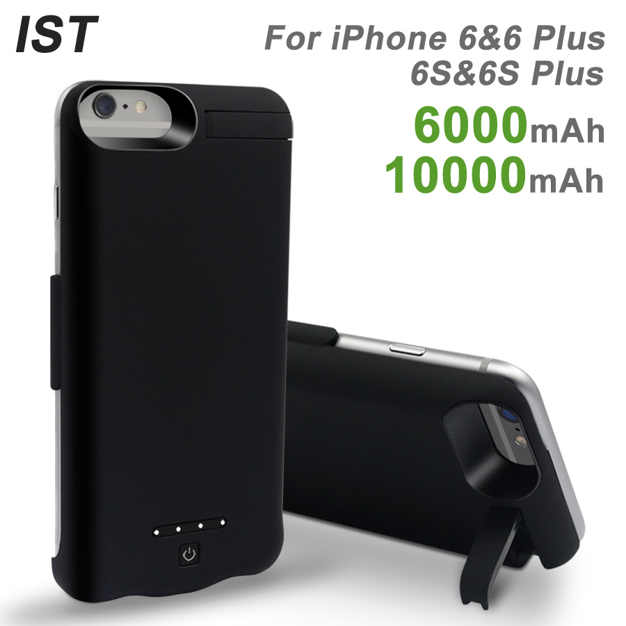 2019 IST 6000/ 10000mAh Battery Charger Case For IPhone 6 6s Plus Battery Charger Cases External Battery Pack Backup Power Bank