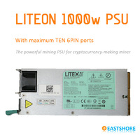 Bitcoin Miner Use 750W PSU Power Supply With 6pin X 4
