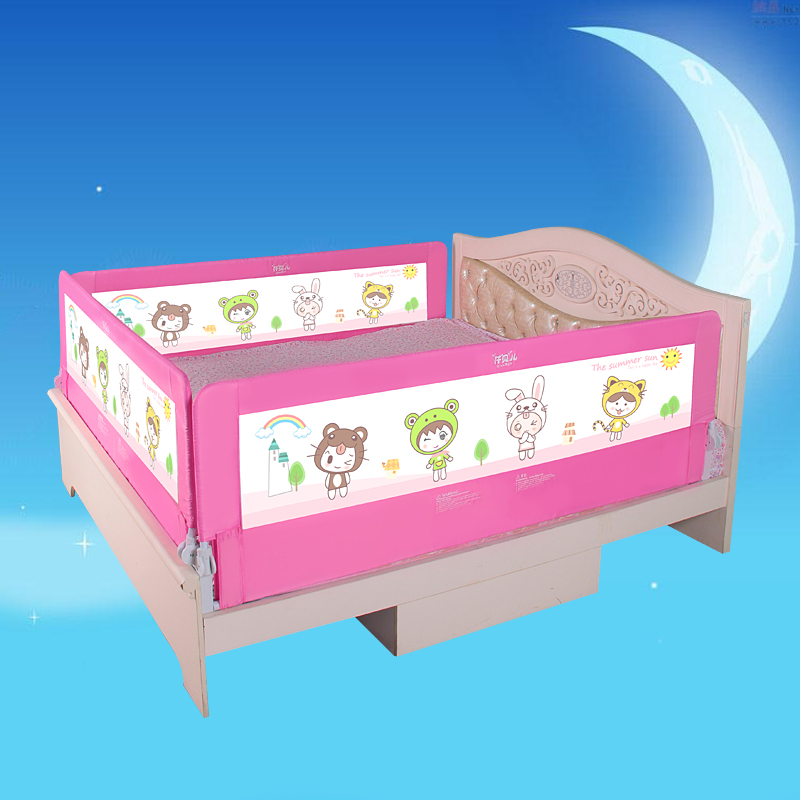Quality baby bed rail easy fold durable use pink and blue color general use 120cm 150cm 180cm and 200cm ...