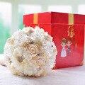 Hotsale Высшего Качества Ручной Работы Из Бисера Брошь Шелковый Невесты Свадебный Букет Невесты Искусственные Цветы Настраиваемые Навсегда сохранить