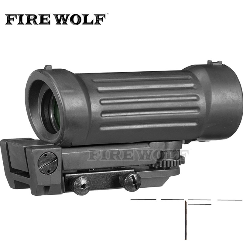 Fire Wolf 4X45 4X Fiber Airsoft Rifle Scope Sight With 20mm Picatinny Rail For Hunting Riflescope цена