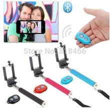Extensível Auto Selfie Vara Handheld Monopé + Clip Holder + Bluetooth Camera Shutter Controle Remoto para iPhone Samsung Telefone