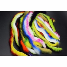 Tigofly Top Quality 10 Colors 4.5mm Width Double Color Fine Rabbit Zonker Strips Genuine Fly Tying Materials Streamers