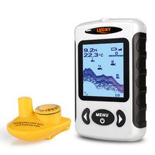 LUCKY FFW718 Russian Wireless Fish Finder 125KHz Frequency Bottom Contour 5-45M Fishfinder Sensor Fishing Camera
