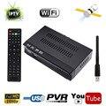 IKS DVB-S2 HD receptor de Satélite Digital IPTV Combo BOX TV Receiver + Suporte a USB WIFI CCCAM NewCam IKS VU Poder Biss Key e PVR