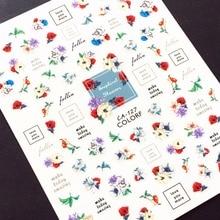 Newest CA-127 rose design 3d sticker nail Japan type self-adhesive DIY decoration wraps