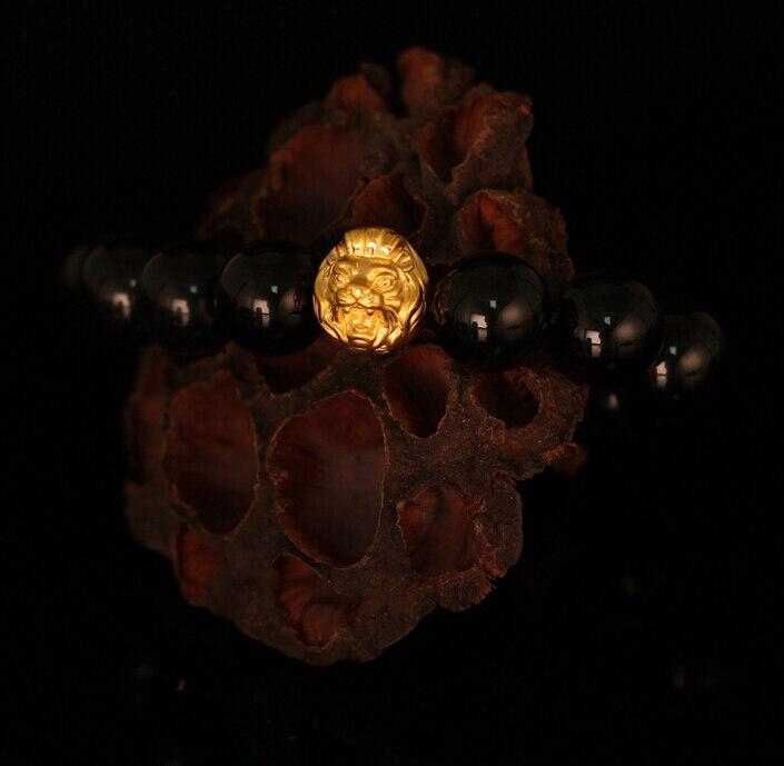 Pur 24 K or jaune pendentif Lion bracelet pendentif 1.92g