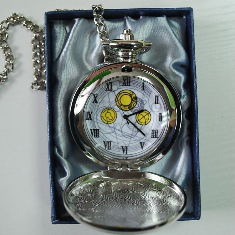 10th DR Doctor Who Pocket Watch The Master's Fob Watch David Tennant Metal Pendant Necklace