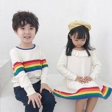 e6a132e8d2554 Popular Rainbow Knitted Sweater Dress-Buy Cheap Rainbow Knitted ...