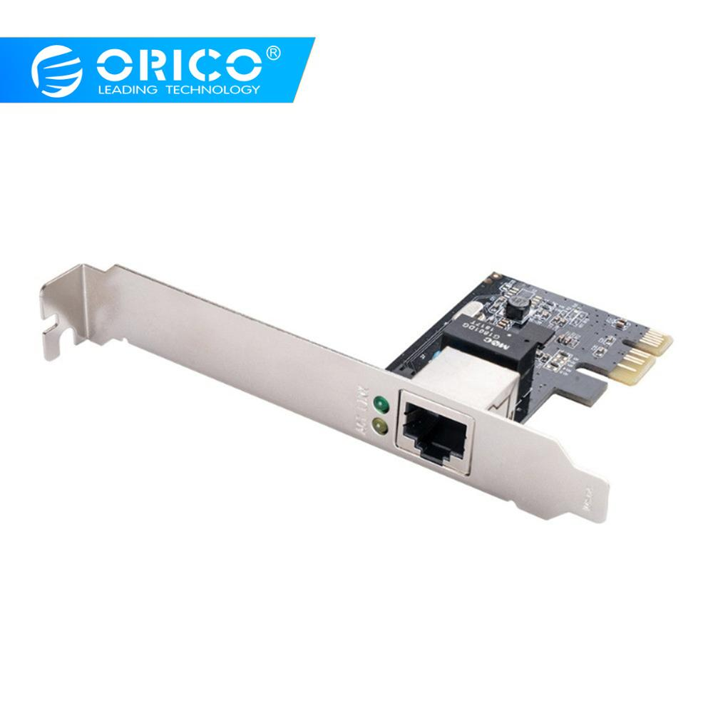 ORICO Single Port PCIE To 1000M Gigabit Ethernet Network Desktop Controller Full Duplex Flow Control Adapter For PC