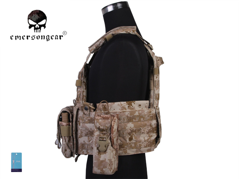 Back Support Emersongear Lbt6094a Style Tactical Vest With 3 Pouches Hunting Airsoft Military Combat Gear 500d Nylon Aor1 Em7440e Convenience Goods