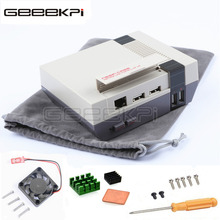 GeeekPi NESPi Case Retroflag Mini NES Style Game Kit with Cooling Fan + Heatsinks + Flannel Bag for Raspberry Pi 3 / 2 / B+(China)