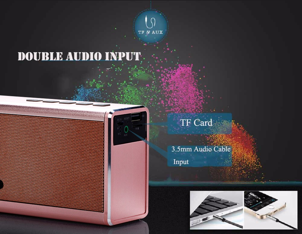 8 gold bluetooth portable speaker