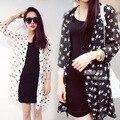 Del tamaño del verano Biusas ropa barata China mujeres blusa de gasa Sun Block Kimono caliente venta Blousa Feminina moda mujeres Tops