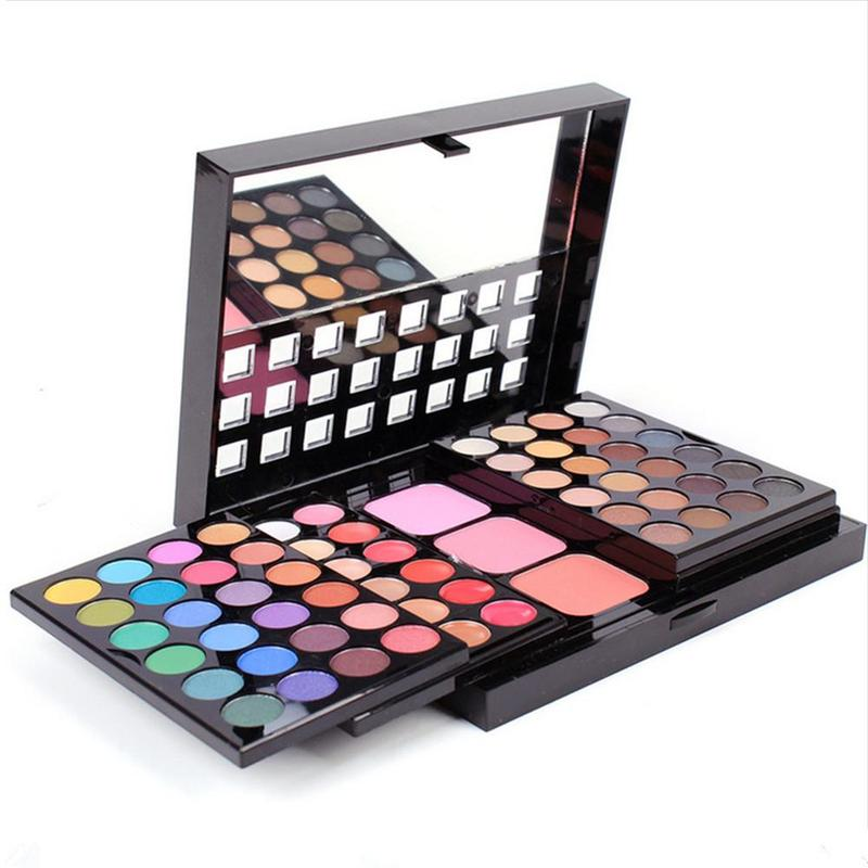 78 Colors Makeup Set Maquiagem Eyeshadow Pallete Lipstick Palette Lip Gloss Blush Powder Pigment Contour Pallete Brushes Kits