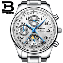 2017 NEW BINGER men's watch luxury brand Multiple functions Moon Phase sapphire Calendar Mechanical Wristwatches B-603-8 1