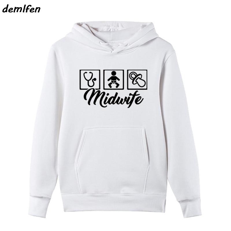 f467ba292 New Midwife Design Hoodie Print Casual Fashion Men Fleece hoodies Funny  Sweatshirt Men hoody Clothing jacket