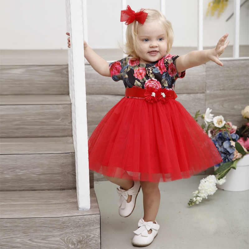 92028f288 Summer Cute Dress Party Flower Baby Girls Dress 2018 New Beautiful Toddler  Baptism Dresses For Newborn