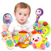Wholesale baby toys 6 12 month Music club children crawling insects puzzle early music music rattles baby hand grab the ball