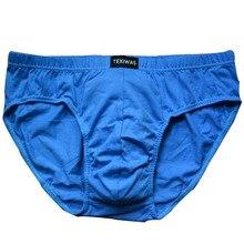 4pcs/lot Free  shipping cheapest 100% Cotton Mens Briefs  Plus Size Men Underwear Panties 4XL/5XL/6XL Men's Breathable Panties