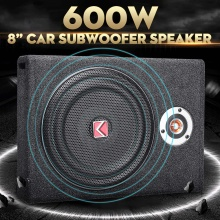 600 Вт автомобильные сабвуферы динамик 8 ''сабвуфер автомобильный активный тонкий под сидением динамик стерео бас-гудок аудио усилитель мощности динамик s
