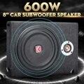 600 w carro subwoofers alto-falante 8 subsubsubwoofer carro ativo magro sob assento alto-falante estéreo baixo chifre áudio amplificador de potência alto falantes
