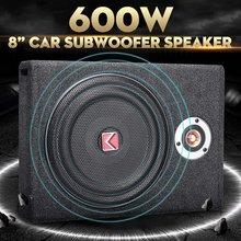 Auto-falante subwoofer 8 ''600w, subwoofer, carro, fino sob o assento, alto falante estéreo, grave, buzina, amplificador de potência alto-falantes
