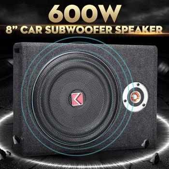 600W subwoofery samochodowe głośnik 8 #8221 Subwoofer samochodowy aktywny Slim pod siedzeniem głośnik bas radiowy Horn moc dźwięku wzmacniacz głośniki tanie i dobre opinie KROAK Car Subwoofer Speaker Zamknięta systemy subwoofer 90db Stainless Steel 12 v Low frequency bass horn high quality low tone out