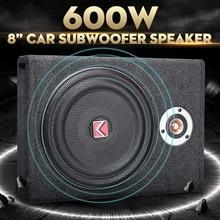 Altavoz Subwoofers de coche de 600 W, altavoz Subwoofer de 8 pulgadas, altavoz activo delgado debajo del asiento, altavoces estéreo de cuerno bajo AMPLIFICADOR DE POTENCIA DE AUDIO