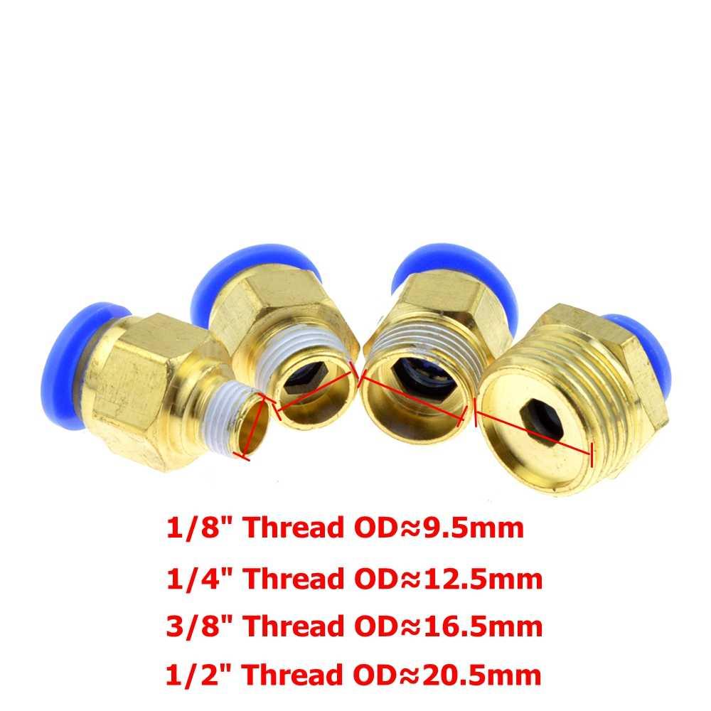 Air Pneumatic 10mm 8mm 12mm 6mm 4mm Hose Tube 1/4