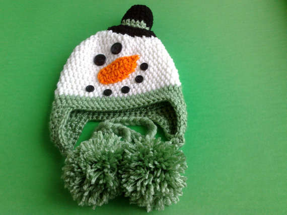 5fac4e12a US $4.42 48% OFF|free shipping, Lovely Cartoon handmade Crochet snowman hat  , Baby Christmas Hat ,100% cotton snowman baby hat caps Photo Prop-in Hats  ...