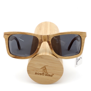 Image 4 - BOBO BIRD 우드 선글라스 브랜드 디자이너 갈색 나무 선글라스 스타일 스퀘어 선글라스 Masculino Dropshipping OEM